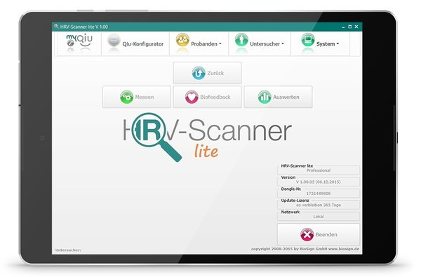 HRV-Scanner lite Professional Set